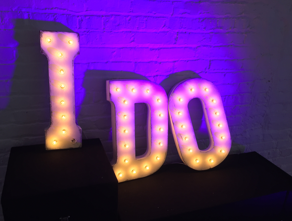 Uplighting with the Marquee Letters