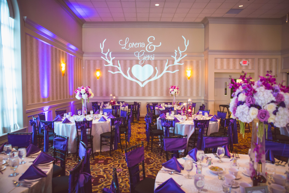 Wedding Monogram Projection with Uplights