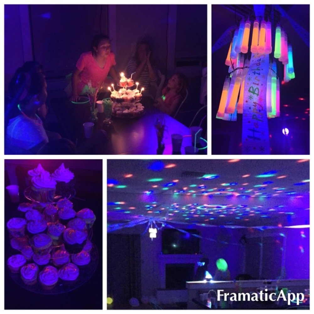 Black Light Birthday Party Theme