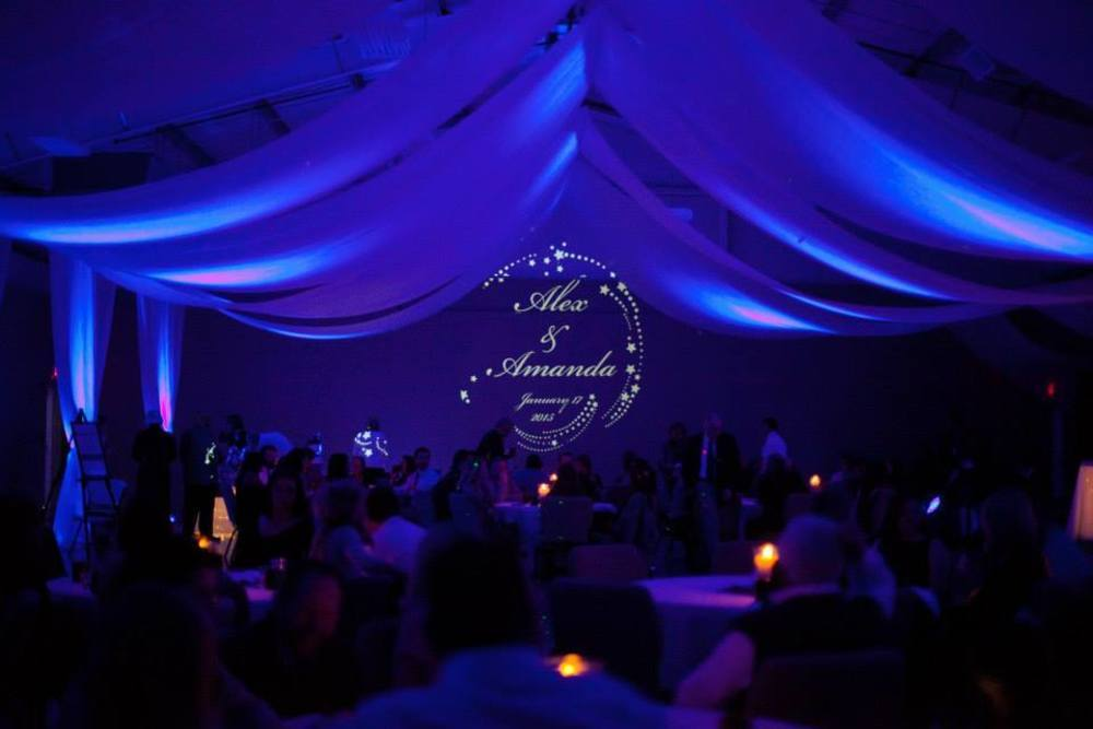 Wedding Lighting that Shows Names