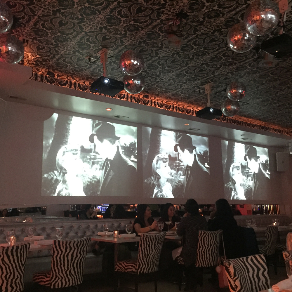 Video projectors playing old movies