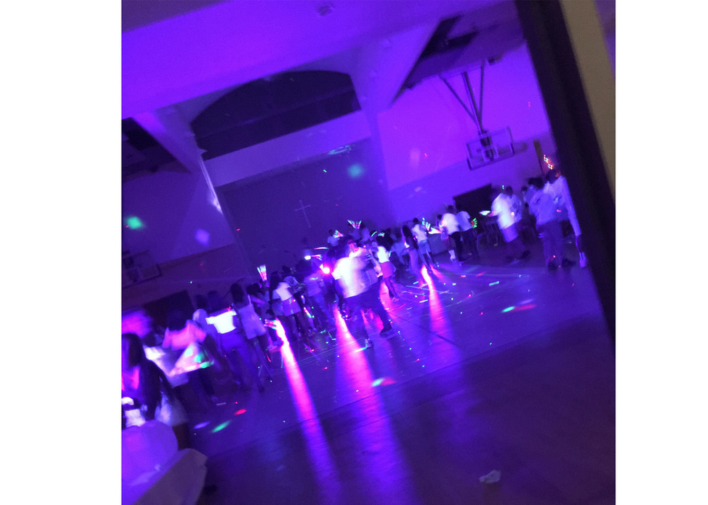 Glow Party in a School Gym