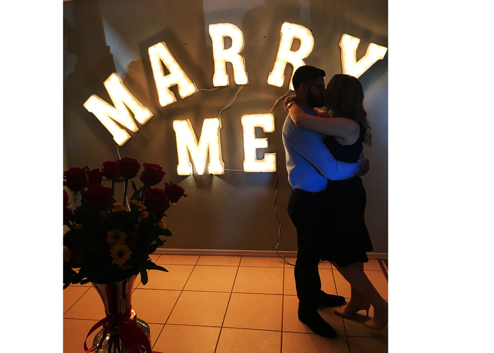 Marry Me Light Up Letters Rental