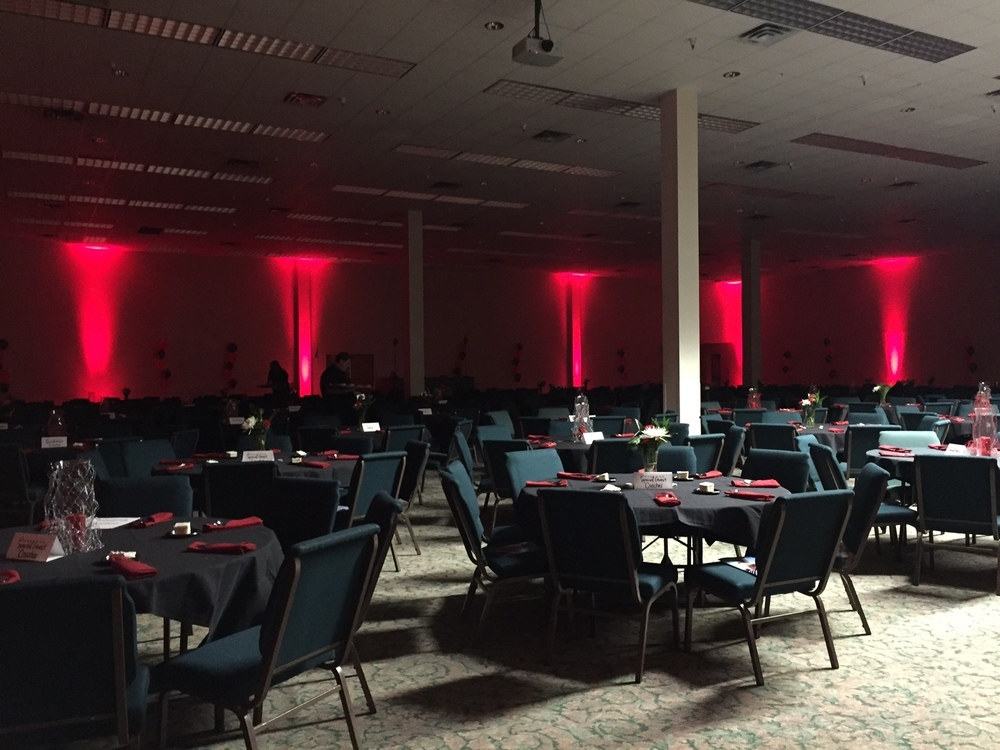 Uplighting a Football Banquet