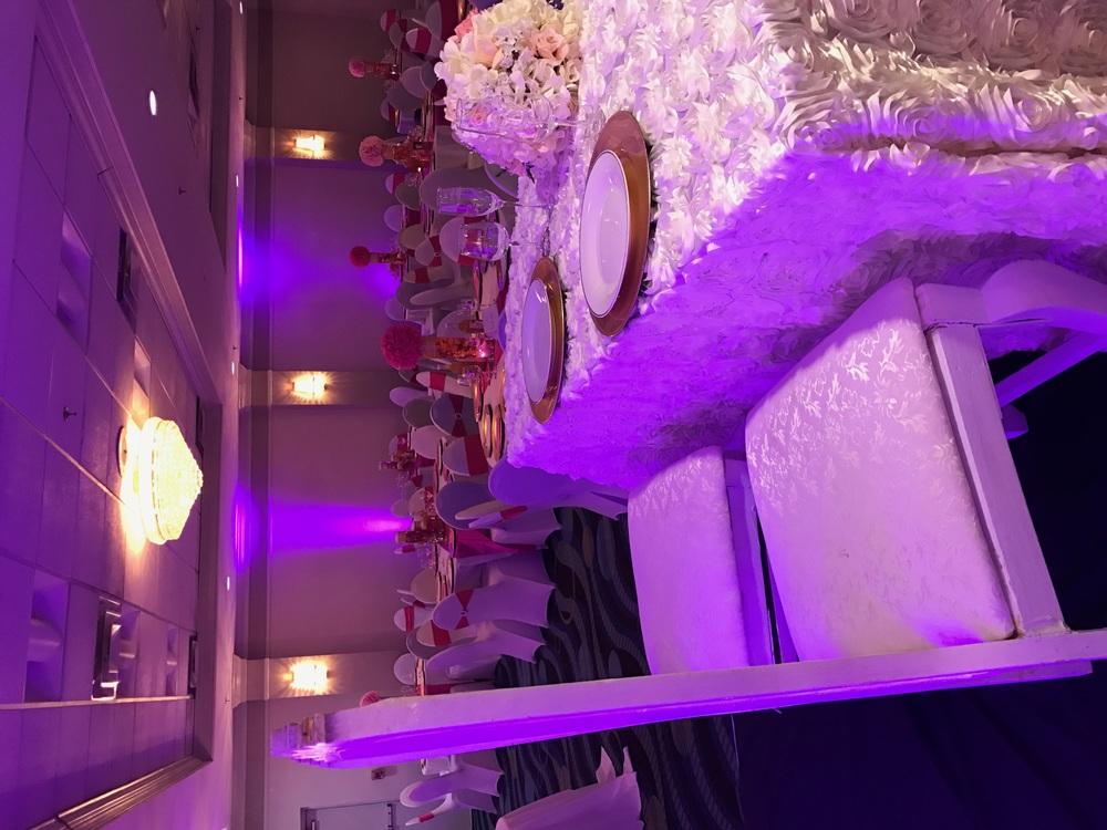 Anniversary party lighting