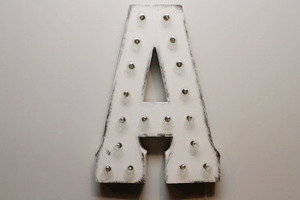 Light up letters a front