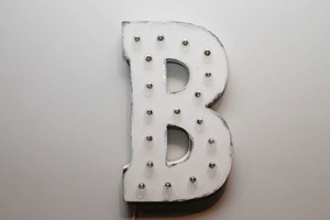 Light up letters b front