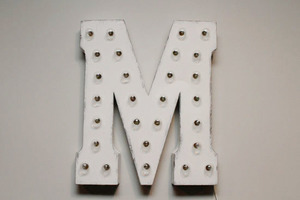 Light up letters m front