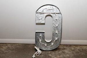 Light up letters c back