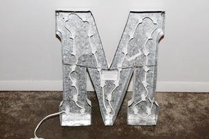 Light up letters m back