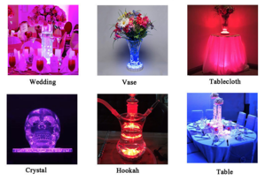 Centerpiece lights example uses