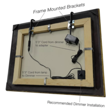 Installation tru slim 1 light led frame mounted picture light
