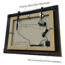 Installation tru slim 1 light led frame mounted picture light