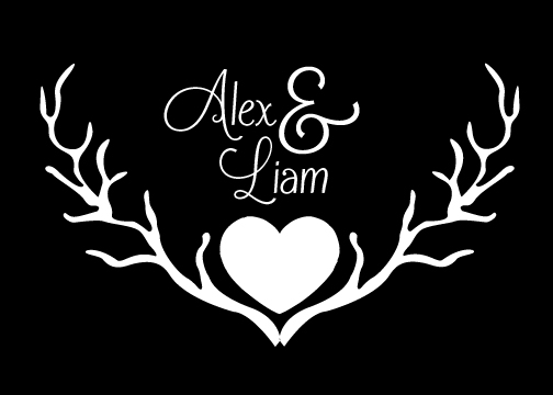 wedding monogram gobo design 2
