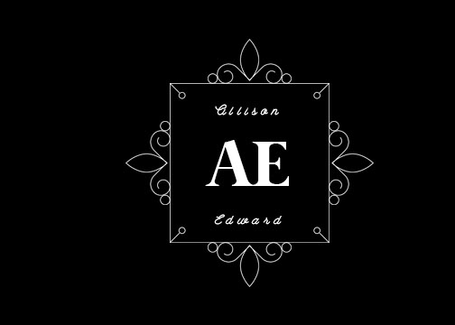 wedding monogram gobo design 35